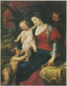 De Heilige Familie met de H. Johannes de Doper als kind