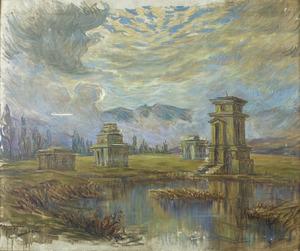 Tempeltjes op het Diëngplateau te Java
