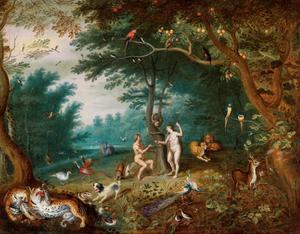 De tuin van Eden met de Zondeval