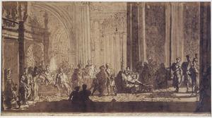 Telemachus aan de tafel van Nestor (Odyssee III:35-44)