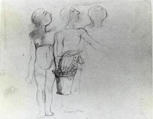 Drie vrouwenfiguren
