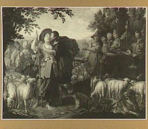 De ontmoeting van Jacob en Rachel (Genesis 29:1-13)