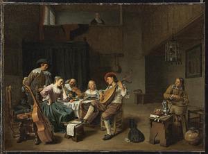 Musicerend gezelschap in een herberg