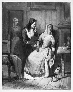 Voorstudie voor de illustratie 'Zij viel op eenen neder.'