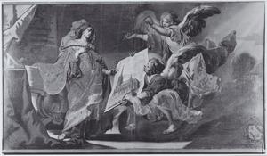 De legende van de O.L.V Kerk te Alsemberg: engelen brengen op verzoek van  de H. Maagd de ontwerptekeningen van de kerk naar de H. Elisabeth van Hongarije
