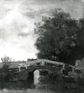 Vissertje bij een brug