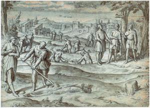 Mozes begraaft de Egyptische slavendrijver (Exodus 2:12)