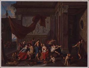 Odysseus dringt het paleis der Lotofagen binnen om zijn kameraden tegen hun zin te bevrijden (Odyssee IX) (?)