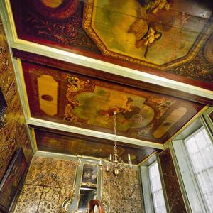 Driedelige plafondschildering met allegorische voorstellingen