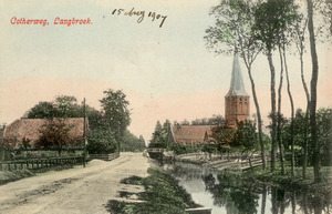 Het dorp Nederlangbroek gezien vanaf de Cotherweg