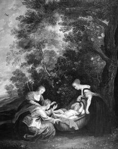 Mozes en de dochter van de Farao (Exodus 2: 9)