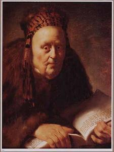 Portret van een onbekende vrouw als een oudtestamentaire profetes