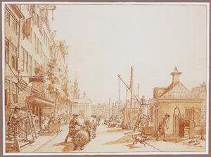 De Singel met rechts het Leidse Veer gezien naar de Munt, in Amsterdam