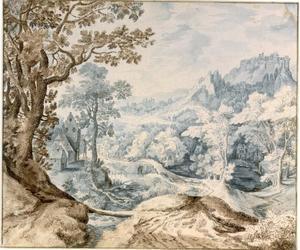 Boomrijk berglandschap