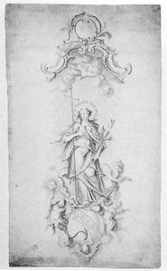 Ontwerp voor een beeld van zegevierende Maria