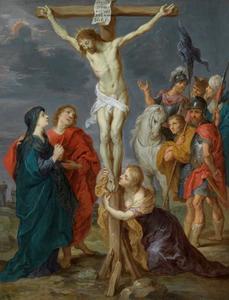 Christus aan het kruis (Lucas 23: 32-43, Matteus 27: 33-44, Marcus 15: 22-32, Johannes 19: 17-30)