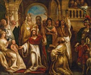 Jojoda laat het kind Joas tot koning uitroepen in plaats van Atalja (2 Koningen 11:12)
