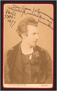 Portret van de schilder Jan van Beers (1852-1927)