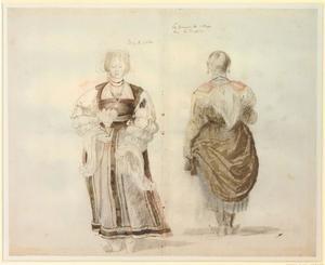 Studie van twee vrouwen in Spaanse klederdracht