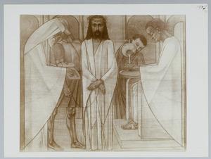 Eerste Kruiswegstatie. Jezus wordt ter dood veroordeeld