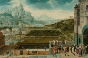 David bespiedt Batseba bij haar toilet vanaf het dak van paleis (2 Samuel 11:1-27)
