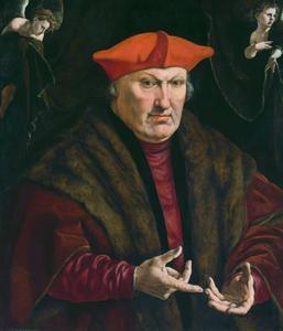 Portret van Erard de la Marck (1472-1538), prins-bisschop van Luik en kardinaal van Valence