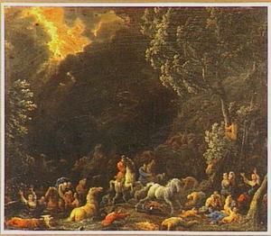 De zondvloed verzwelgt de aarde en al wat leeft  (Genesis 7:10 - 8:17)