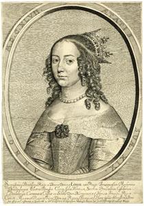 Portret van Louise Henriette van Oranje-Nassau (1627-1667