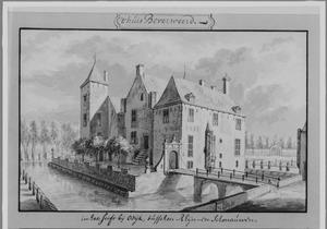 Voor- en rechterzijde van kasteel Beverweerd bij Bunnik