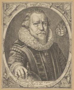 Portret van Johan Sems (1572-1635)