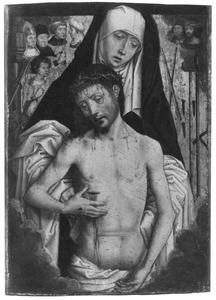 De maagd Maria toont de Man van Smarten