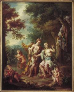 Juppiter maakt Callisto, vermomd als Diana het hof
