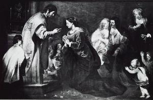 Onze-Lieve-Vrouw ontvangt haar laatste communie van Sint-Jan-de-Evangelist