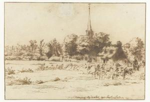 Het dorp Mere bij Aalst