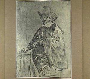Studie van een staande man met hoed
