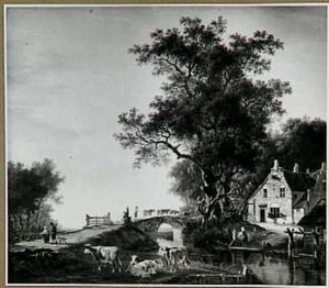 Zomers landschap buiten Dordrecht