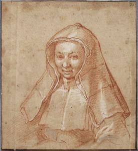 Portret van een non, mogeliijk Barbara Bloemaert (?-?)