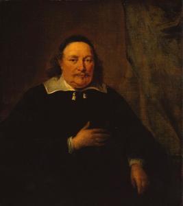 Portret van een oude man met een kalotje
