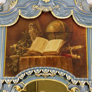 Alllegorische voorstelling met globe en boek