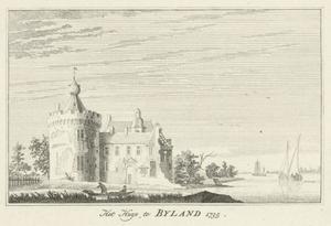 Kasteel Byland (ook Huis Halt) vanuit het zuiden