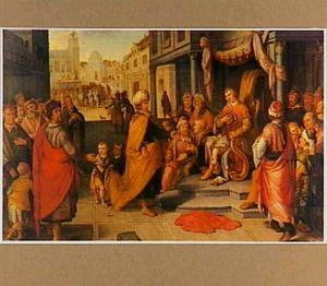 De justitie van koning Cambyses; Otanes neemt plaats op de zetel van zijn vader Sesamnes