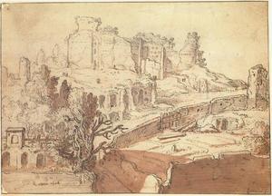 Gezicht op de Palatijn te Rome