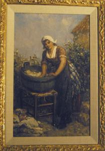 Wassende vrouw