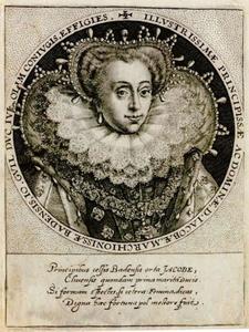 Portret van Jacoba van Baden (1558-1597)