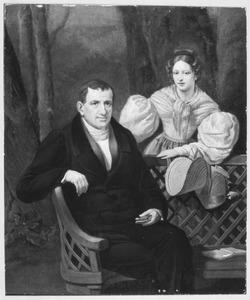 Portret van Joost Gerard Godard Taets van Amerongen (1769-1850) en Clasina Cornelia van Nellesteyn (1783-1847)