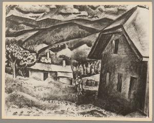 Berglandschap met huizen