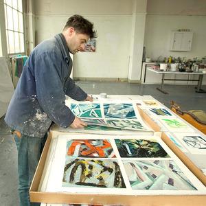 Robert Zandvliet in zijn atelier