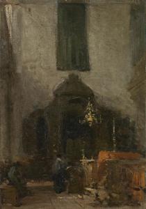 Interieur van de Portugese Synagoge te Den Haag
