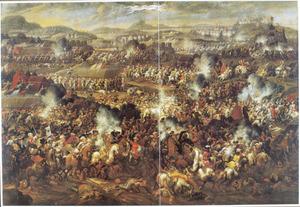 Het ontzet van de stad Gran in Hongarije door Hertog Karel van Lotharingen en Keurvorst Max Emanuel van Beieren, 1685