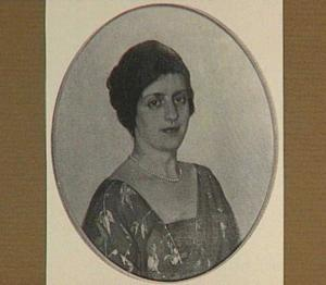 Portret van een dame met een parelketting